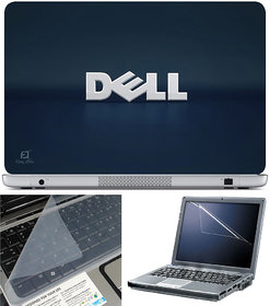 Finearts Laptop Skin 15.6 Inch With Key Guard & Screen Protector - Dell Blue Shadow