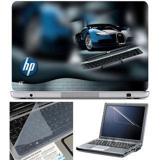 Finearts Laptop Skin Hp Car With Screen Guard And Key Protector - Size 15.6 Inch