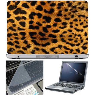 Finearts Laptop Skin - Panther Skin With Screen Guard And Key Protector - Size 15.6 Inch