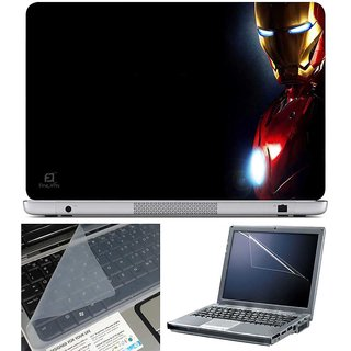 Finearts Laptop Skin Iron Man Side With Screen Guard And Key Protector - Size 15.6 Inch
