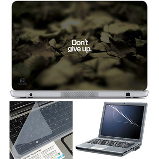 Finearts Laptop Skin 15.6 Inch With Key Guard & Screen Protector - Donâ'T Give Up