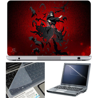 Finearts Laptop Skin 15.6 Inch With Key Guard & Screen Protector - Red Naruto