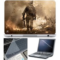 Finearts Laptop Skin Soldier On Ground With Screen Guar