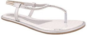 Exotique Stylish Silver Flat Sandal