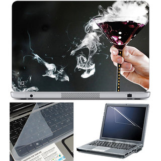 Finearts Laptop Skin 15.6 Inch With Key Guard & Screen Protector - Glass Smoke