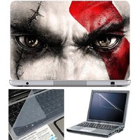 Finearts Laptop Skin Red Mark On Eye With Screen Guard
