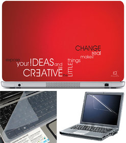 Finearts Laptop Skin 15.6 Inch With Key Guard  Screen Protector - Creative Ideas