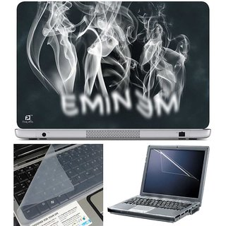 Finearts Laptop Skin Eminem Smoke With Screen Guard And Key Protector - Size 15.6 Inch