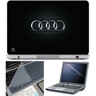 Finearts Laptop Skin - Audi With Screen Guard And Key Protector - Size 15.6 Inch
