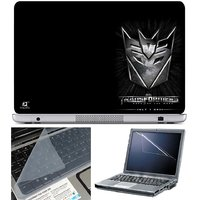 Finearts Laptop Skin Transformers Logo On Corner With S