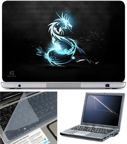 Finearts Laptop Skin 15.6 Inch With Key Guard & Screen Protector - Blue Dragon