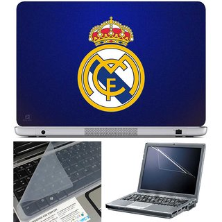 Finearts Laptop Skin Real Madrid With Screen Guard And Key Protector - Size 15.6 Inch