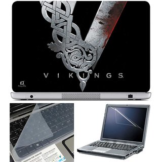 Finearts Laptop Skin - Vikings With Screen Guard And Key Protector - Size 15.6 Inch
