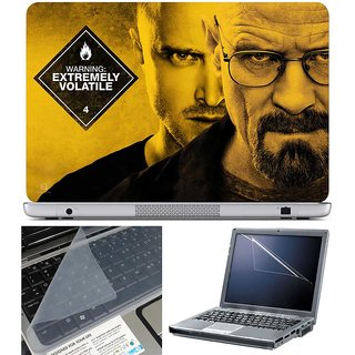 Finearts Laptop Skin - Extremely Volatile With Screen Guard And Key Protector - Size 15.6 Inch