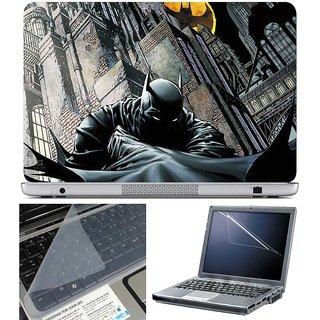 Finearts Laptop Skin - Batman Comic Art With Screen Guard And Key Protector - Size 15.6 Inch