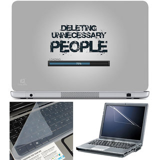 Finearts Laptop Skin 15.6 Inch With Key Guard & Screen Protector - Deleting Unnecessary People