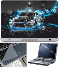 Finearts Laptop Skin 15.6 Inch With Key Guard & Screen Protector - Electric Car