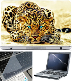 Finearts Laptop Skin 15.6 Inch With Key Guard & Screen Protector - Panther Water Art