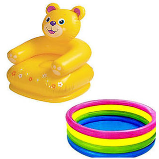 Combo Teddy Of Chair And Baby Swimming Pool