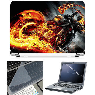 Finearts 3 In 1 Laptop Skin With Screen Protector And Key Guard - Ghost Rider