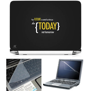 Finearts 3 In 1 Laptop Skin With Screen Protector And Key Guard