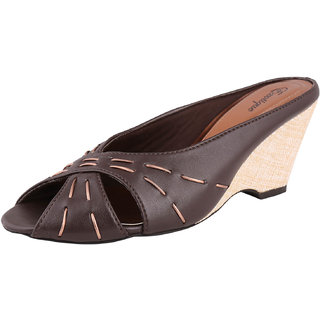 Exotique Fashionable Brown wedges heel slip-on