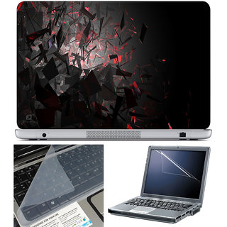 Finearts Laptop Skin 15.6 Inch With Key Guard & Screen Protector - Blast