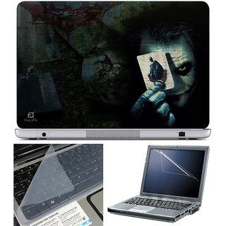 Finearts Laptop Skin 15.6 Inch With Key Guard & Screen Protector - Dark Joker Card