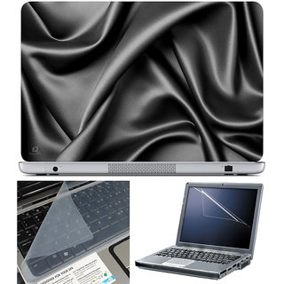 Finearts Laptop Skin 15.6 Inch With Key Guard & Screen Protector - Black Silk Cloth