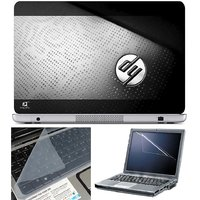 Finearts Laptop Skin Hp Logog On Black Texture With Scr