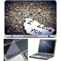 Finearts Laptop Skin - I Love You On Paper With Screen