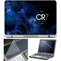 Finearts Laptop Skin - Cr7 Out Of This World With Scree