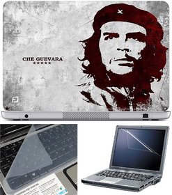 Finearts Laptop Skin Che Guevara With Screen Guard And Key Protector - Size 15.6 Inch