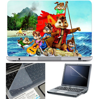 Finearts Laptop Skin 15.6 Inch With Key Guard & Screen Protector - Chipmonks River