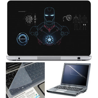 Finearts Laptop Skin 15.6 Inch With Key Guard & Screen Protector - Ironman Suit
