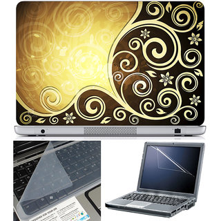 Finearts Laptop Skin 15.6 Inch With Key Guard & Screen Protector - Abstract Series 1014
