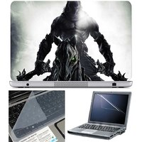 Finearts Laptop Skin Ghost On Horse With Screen Guard A