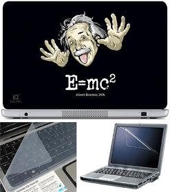 Finearts Laptop Skin 15.6 Inch With Key Guard & Screen Protector - E Mc2 Albert Einstein