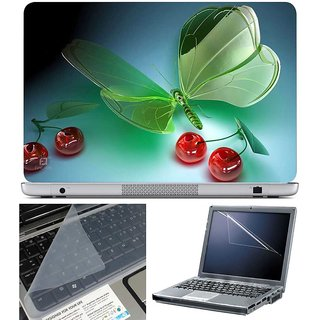 Finearts Laptop Skin 3D Apple With Screen Guard And Key Protector - Size 15.6 Inch