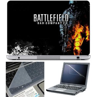 Finearts Laptop Skin - Balttlefield With Screen Guard And Key Protector - Size 15.6 Inch