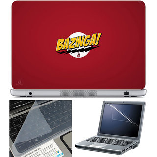 Finearts Laptop Skin 15.6 Inch With Key Guard & Screen Protector - Bazinga