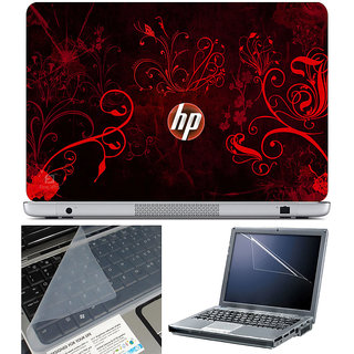 Finearts Laptop Skin 15.6 Inch With Key Guard & Screen Protector - Hp Orange Wallpaper