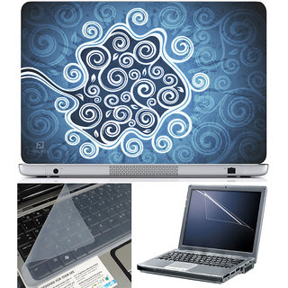 Finearts Laptop Skin 15.6 Inch With Key Guard & Screen Protector - Abstract Series 1018