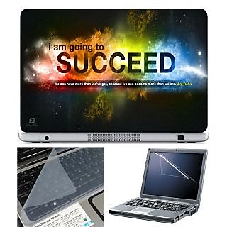 Finearts Laptop Skin 15.6 Inch With Key Guard & Screen Protector - Succeed