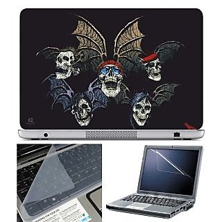 Finearts Laptop Skin -  With Wings With Screen Guard And Key Protector - Size 15.6 Inch