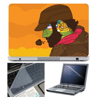 Finearts Laptop Skin 15.6 Inch With Key Guard & Screen Protector - Doing Good Things