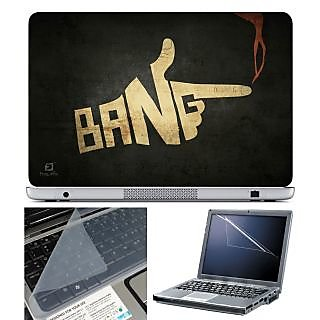Finearts Laptop Skin 15.6 Inch With Key Guard & Screen Protector - Bang