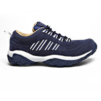 Foot N Style Men's White  Blue Lace-Up Outdoors