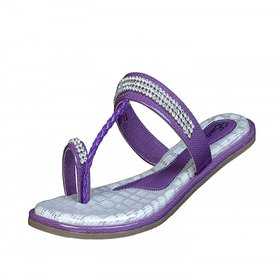 Exotique Stylish Purple Flat Slip - On