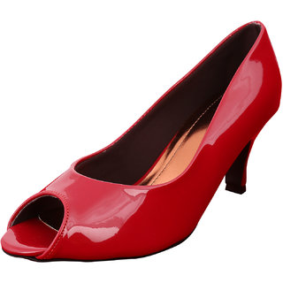 Exotique Red Medium Heel Formal Pumps